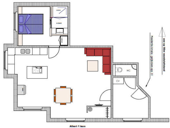 Appartement for Grondplan badkamer
